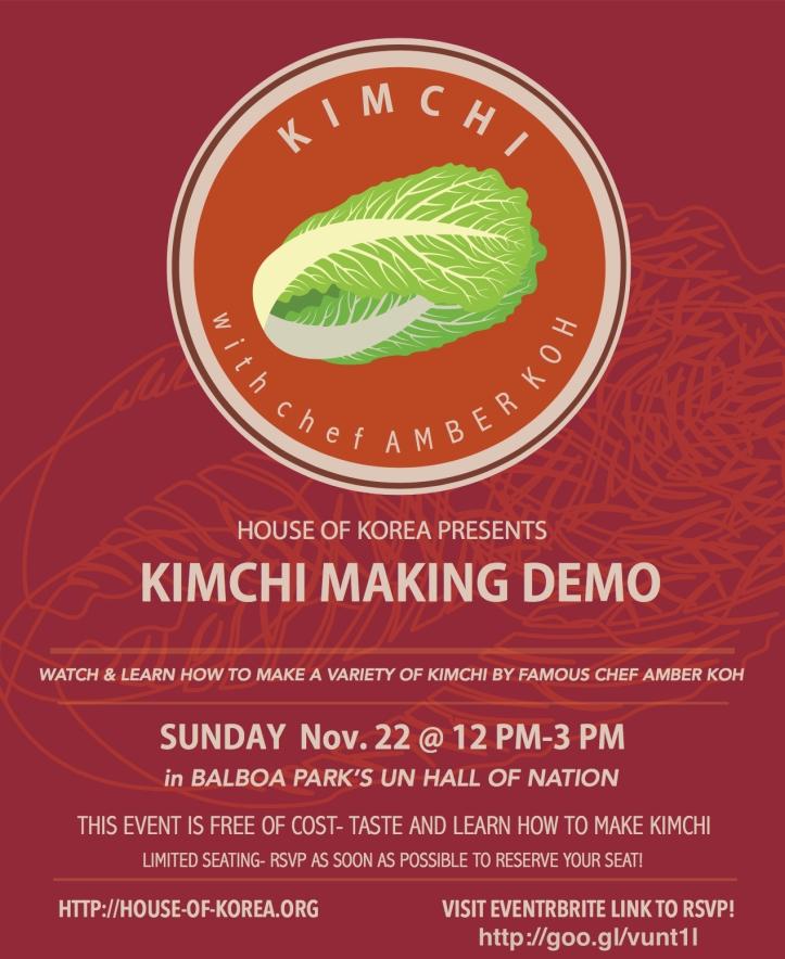 House of Korea-Kimchi event