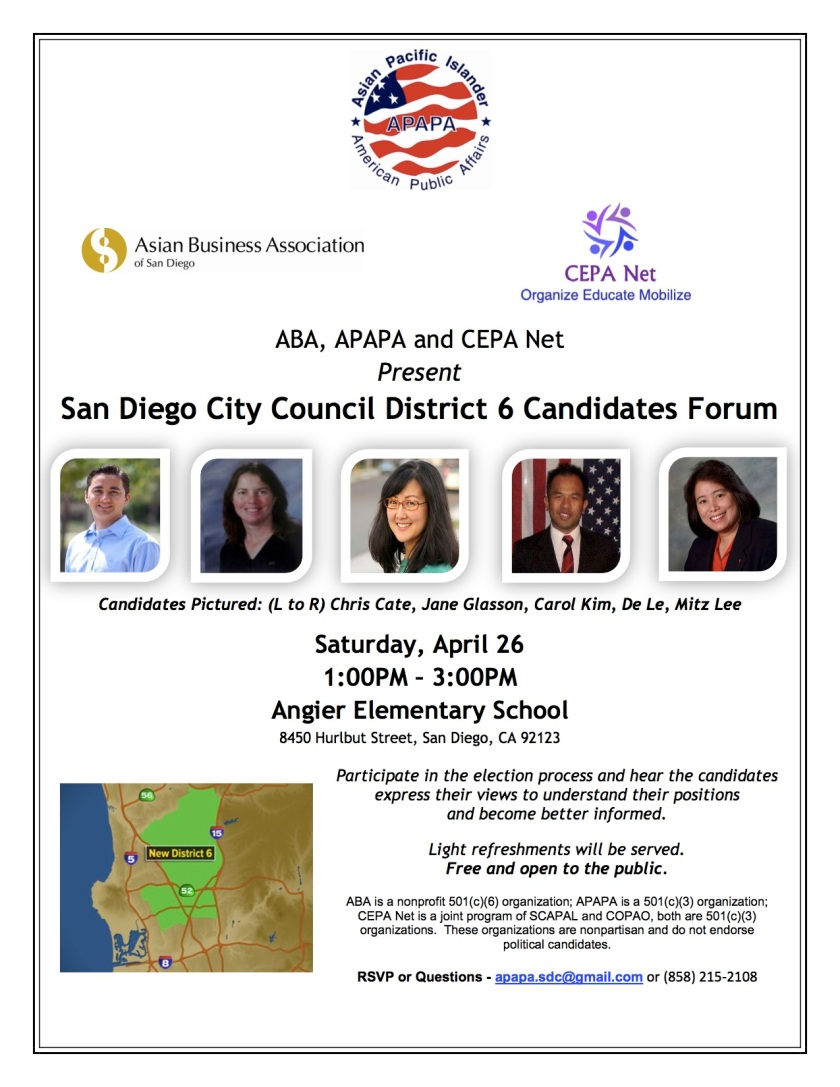 D6 Candidates Forum 042614 Event Flyer