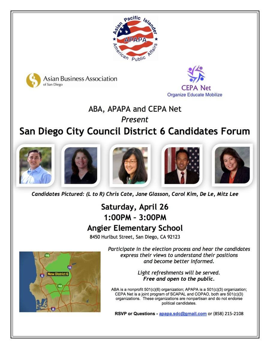D6 Candidates Forum 042614 Event Flyer