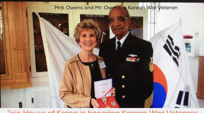 Tue, Mar 22, 12pm: House of Korea event: Learning about Korean Spirit and Culture Through Film & Honoring Korean War Veterans with the Ambassador for Peace Medal